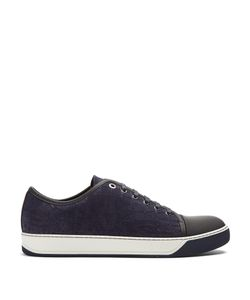 Lanvin | Low-Top Embossed-Leather Trainers