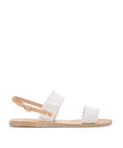 ANCIENT GREEK SANDALS | Clio Denim And Leather Sandals
