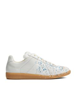 Maison Margiela | Replica Low-Top Paint-Effect Leather Trainers