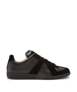 Maison Margiela | Replica Suede-Panel Low-Top Leather Trainers