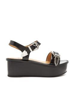Toga | Buckle Leather Flatform Sandals