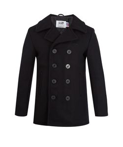 Schott | Double-Breasted Wool-Blend Coat