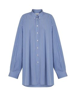 Maison Margiela | Oversized Striped Cotton Shirtdress