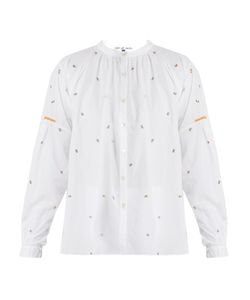 Jupe By Jackie   Kahano Embroide Round-Neck Cotton Shirt