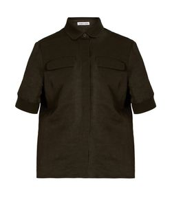 Tomas Maier | Short-Sleeved Knit-Trim Shirt
