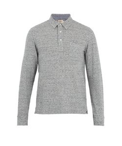 Faherty | Point-Collar Long-Sleeved Cotton-Blend Polo