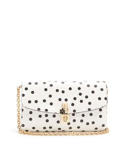 Dolce & Gabbana | Polka-Dot Print Leather Cross-Body Bag