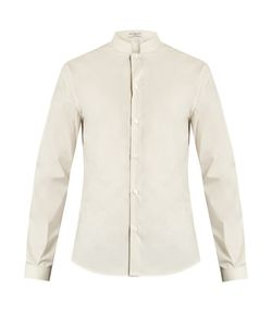 Éditions M.R | Officer-Collar Cotton-Poplin Shirt