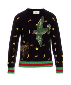 Gucci | Motif-Embroidered Wool Sweater