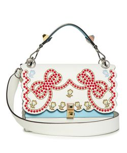 Fendi | Kan I Embroidered Leather Shoulder Bag