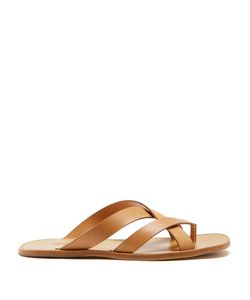 HELBERS | Leather Crossover Sandals