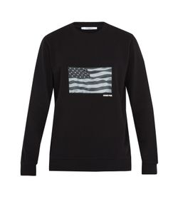 Givenchy | Usa Flag-Appliqué Cotton Sweatshirt