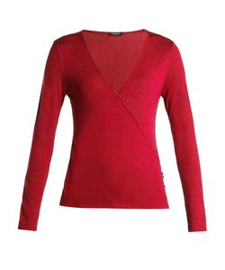 Balmain | Asymmetric-Wrap Wool And Silk-Blend Top