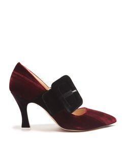 ATTICO | Elsa Buckle-Embellished Velvet Pumps