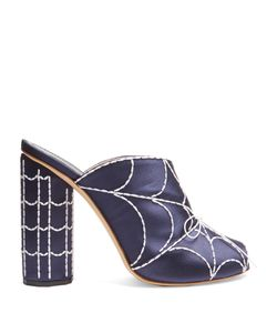 Marco De Vincenzo | Spiders Web-Embroidered Satin Mules