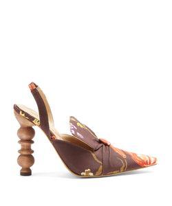 Rosie Assoulin | Rasin Sculptured-Heel Print Pumps