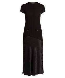 ESTEBAN CORTAZAR | Satin-Panel Jersey Midi Dress