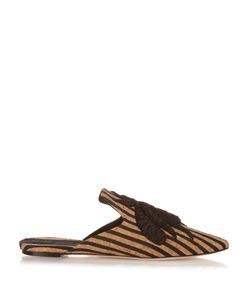 SANAYI 313 | Ragno Bee-Embroide Cork Slipper Shoes