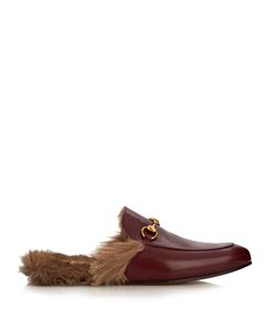 Gucci | Princetown Fur-Lined Leather Loafers