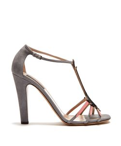 Valentino | Love Blade Suede And Patent-Leather Sandals