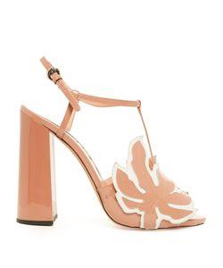 Rochas | Leaf-Appliqué Patent-Leather Sandals