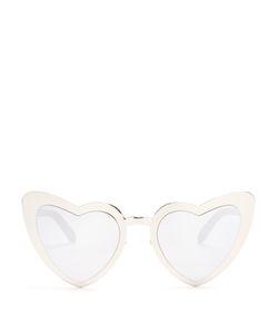 Saint Laurent | Loulou Heart-Shaped Metal Sunglasses