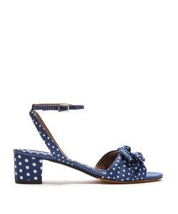 Tabitha Simmons | Eloy Polka Dot-Print Canvas Sandals