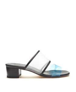 Maryam Nassir Zadeh | Martina Contrast-Strap Mesh And Leather Mules