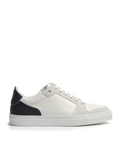 Ami | Contrast-Panel Low-Top Leather And Suede Trainers