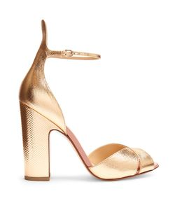 FRANCESCO RUSSO | Block-Heel Snakeskin-Effect Leather Sandals