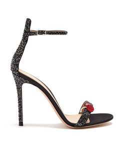 Gianvito Rossi | Cherry Crystal-Embellished Satin Sandals