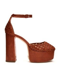 BROTHER VELLIES | Oracle Woven-Leather Platform Pumps