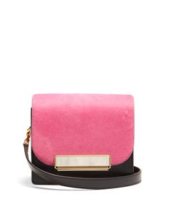 HILLIER BARTLEY | Satchel Mini Calf-Hair And Leather Shoulder Bag