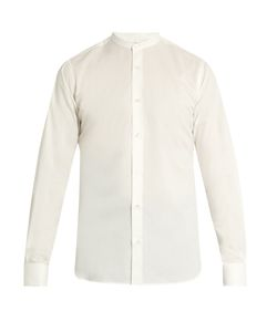 Stella Mccartney | Double-Cuff Collarless Poplin Shirt