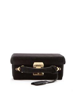 Mark Cross | Grace Small Suede Shoulder Bag