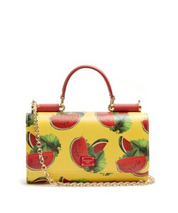 Dolce & Gabbana | Watermelon-Print Leather Cross-Body Bag