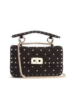 Valentino | Rockstud-Embellished Quilted-Suede Cross-Body Bag