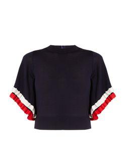 Adam Lippes | Ruffle-Trimmed Short-Sleeved Wool Sweater