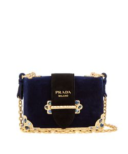 Prada | Caille Small Velvet Cross-Body Bag