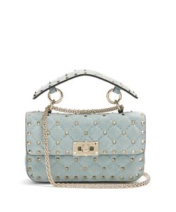 Valentino | Rockstud Spike Small Quilted-Suede Shoulder Bag
