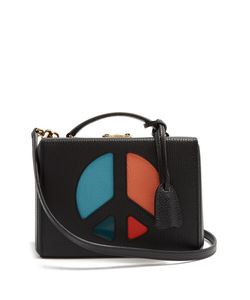 Mark Cross | Grace Peace-Sign Small Grained-Leather Box Bag