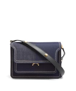 Marni | Trunk Medium Denim Cross-Body Bag