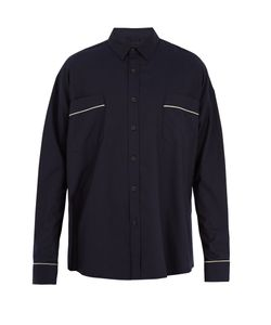 FEAR OF GOD | Contrast-Piped Oversized Twill Shirt