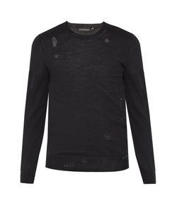 Alexander McQueen | Distressed Wool-Blend Fine-Knit Sweater