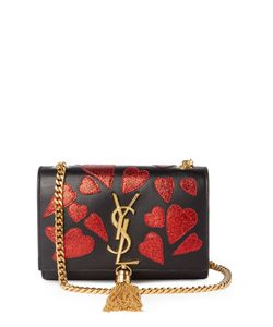 Saint Laurent | Kate Small Heart-Appliqué Leather Cross-Body Bag