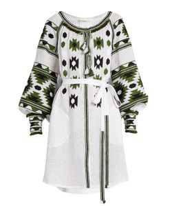 Vita Kin | Kilim Embroidered Linen Dress