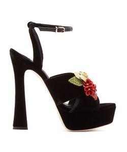 Sophia Webster   Lilico Crystal-Embellished Suede Platform Sandals