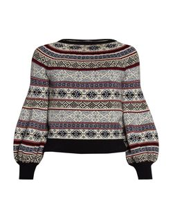 Alexander McQueen | Fair Isle-Jacquard Balloon-Sleeved Sweater
