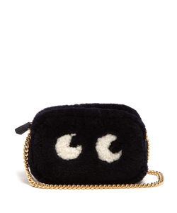 Anya Hindmarch | Eyes Shearling Cross-Body Bag