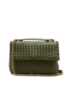 Bottega Veneta | Olimpia Small Intrecciato-Leather Shoulder Bag